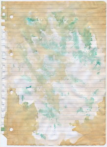 Old paper2: paper+tea+green ink