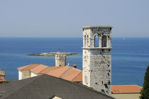Adriatic sea: Cityscape of a mediterranean sea,  in croatia