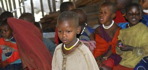 Pupil in Masai school