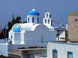 Temple in Santorini