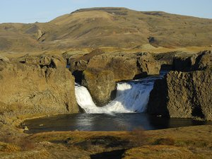 Waterfall in Iceland: twins of waterfalls in Iceland