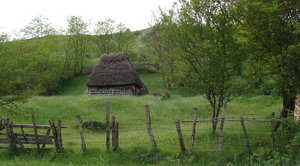 rustic life 2: rustic wood house in the Carpathians, Romania