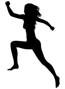 Silhouette Running: Vector Art