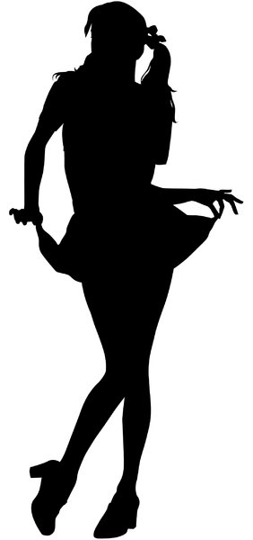 Silhouette Pose 28: Vector Art