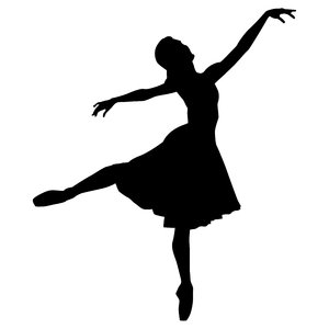 Ballerina 1: Vector art of female ballerina