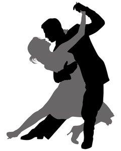 Ballroom Dancing Silhouette Vector Tango 4 Silhouette Vector Art