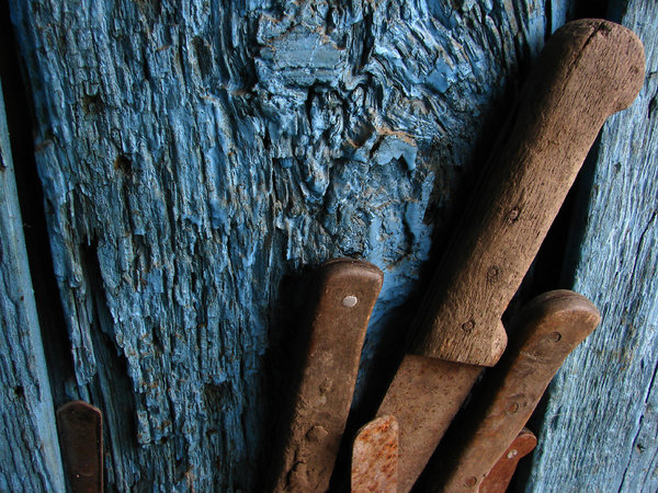 old cutlery 3: rusty knife