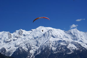 Paragliding over Mont Blanc