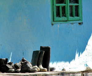 boots on blue 2: blue house, somewhere in Romania