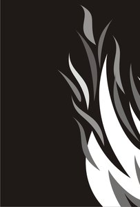 Flame 9: Fire Graphics : Greyscale