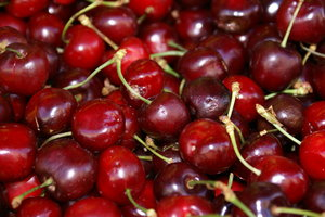Close up on cherries