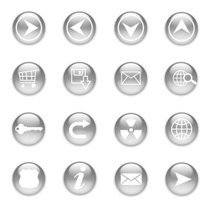 Web button set: PS made glossy web button set.http://www.dezignia.com