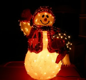 Lighted Snow man