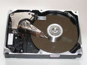 20 Gig Hard drive: the inside of a 20 Gig hard drive