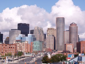 Down town Boston: A picture of early morning down town Boston. Please rate this picture