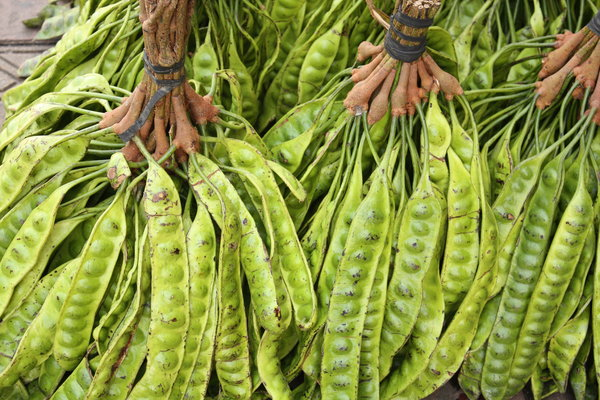 Stink Beans (Petai): Edible legumes with beans the size of almonds known for its pervasive strong smell