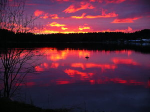 Spring sunset: Sunset in Swedish archipelago, spring 2007