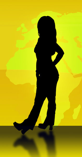 World Models Silhouette: Part of a series based on World wide models