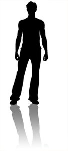 Male Silhouette: My silhouette Dressed in informals