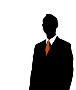 Businessman silhouette: Silhouette of a business man
