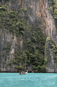 Imsensity: Rock faces near Phi Phi Island, Thailand.Credit to read
