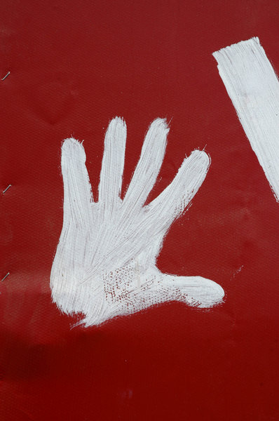 Red left hand