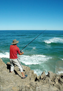 Shore Angling 1: Rock & Surf fisherman.NB: Credit to read