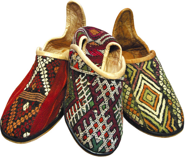 Leather Funk: Funky moroccan shoes.NB: Credit to read