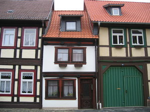 old half-timbered house in wer