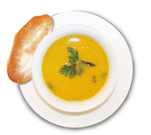 Soup Roll: Pumpkin Soup and Roll