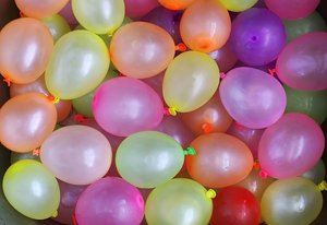 Balloons (Water): Water Balloons - in the sink - ready to throw. Comments Welcome :)