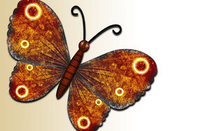 Free as a butterfly: butterfly illustration