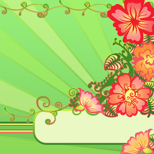 Flower Frame: visit my site ozaidesigns.com for more of my free illustrations!Watermelon Colored Flower Frame. **If you download this for online use, dont give me credit but DO send a link, I love to see how my work is used!