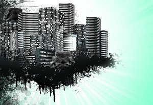 Urban grunge city: visit my site ozaidesigns.com for more of my free illustrations!A skyline with grunge elements.Please comment/send me links!