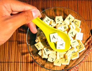 Alphabet Soup 3: Please contact me if you need the photo in a larger size.