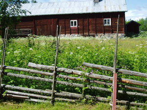Old, wooden fence ...: .. in the north of Sweden