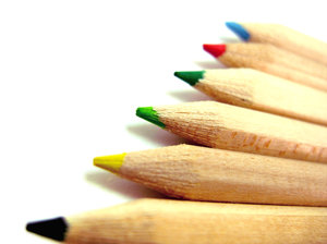 Coloured pencils: Coloured pencils