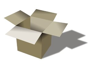 cardboard box: cardboard box with the shadow