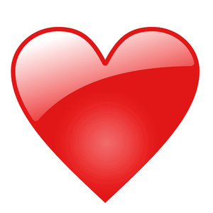 Glossy heart: Glossy heart on the white background for example to the web-page or the scrapbooks