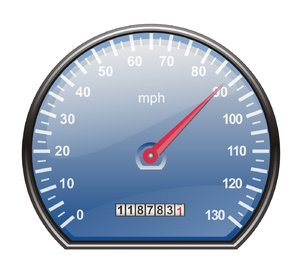 Speedometer in mph