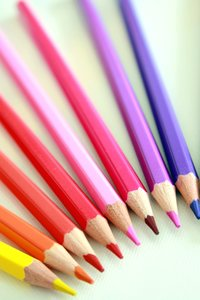 Pencils: An assortment of coloured pencils