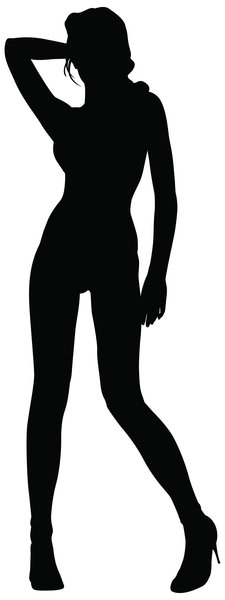 Silhouette Pose 39: Vector Art