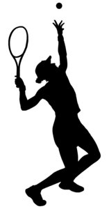 Tennis Silhouette 2: Vector Art