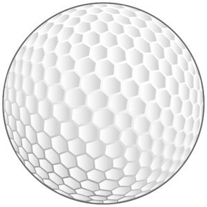 Golf Ball: Vector Art