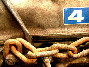 Four: This is a shot of some old crusty motor. I am not sure what the