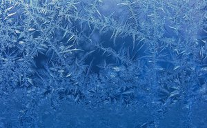 Frosty Glass: Early morning frost