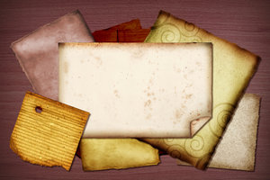 Paper Scraps: A collage of vintage paper scraps.Please visit my gallery at:http://www.stockxpert.com ..