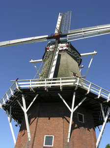 Windmill: Dutch Windmill in Dokkum, Holland.