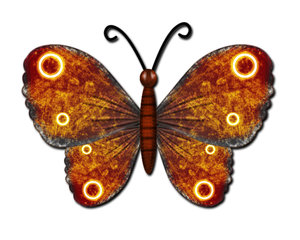 Big butterfly: grunge butterfly illustration element