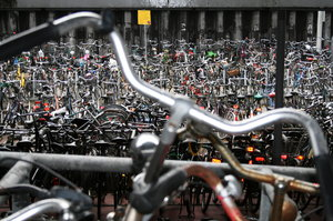 Millions of bikes in Amsterdam